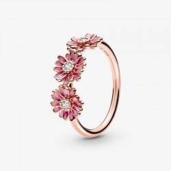 Pandora - Anello Con Tre Margherite Rosa