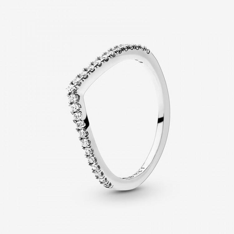 Pandora - Anello A V Scintillante