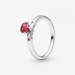Pandora - Anello Con Cuore Rosso Scintillante