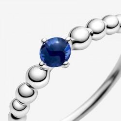 Pandora - Anello Blu Mare Decorato Con Sfere
