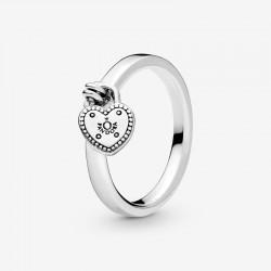 Pandora - Anello Con Lucchetto A Forma Di Cuore