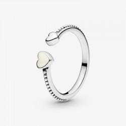 Pandora - Anello Aperto Decorato Da Due Cuori