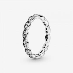 Pandora - Anello Foglie Scintillanti