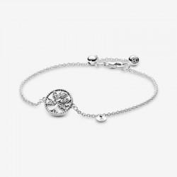 Pandora - Bracciale Albero Della Famiglia Scintillante Con Chiusura Regolabile